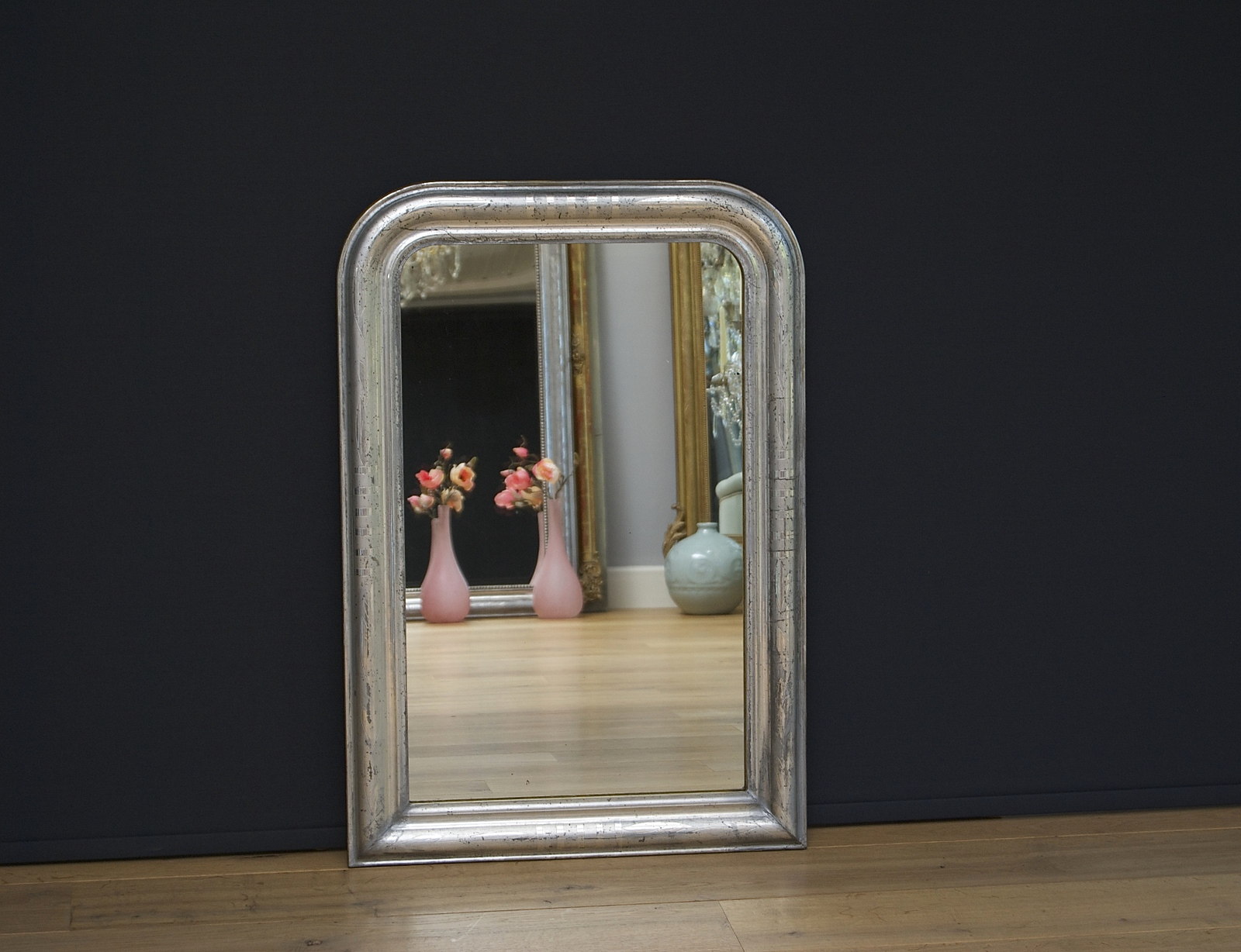 French mirror Louis-Philippe, silver-leaf