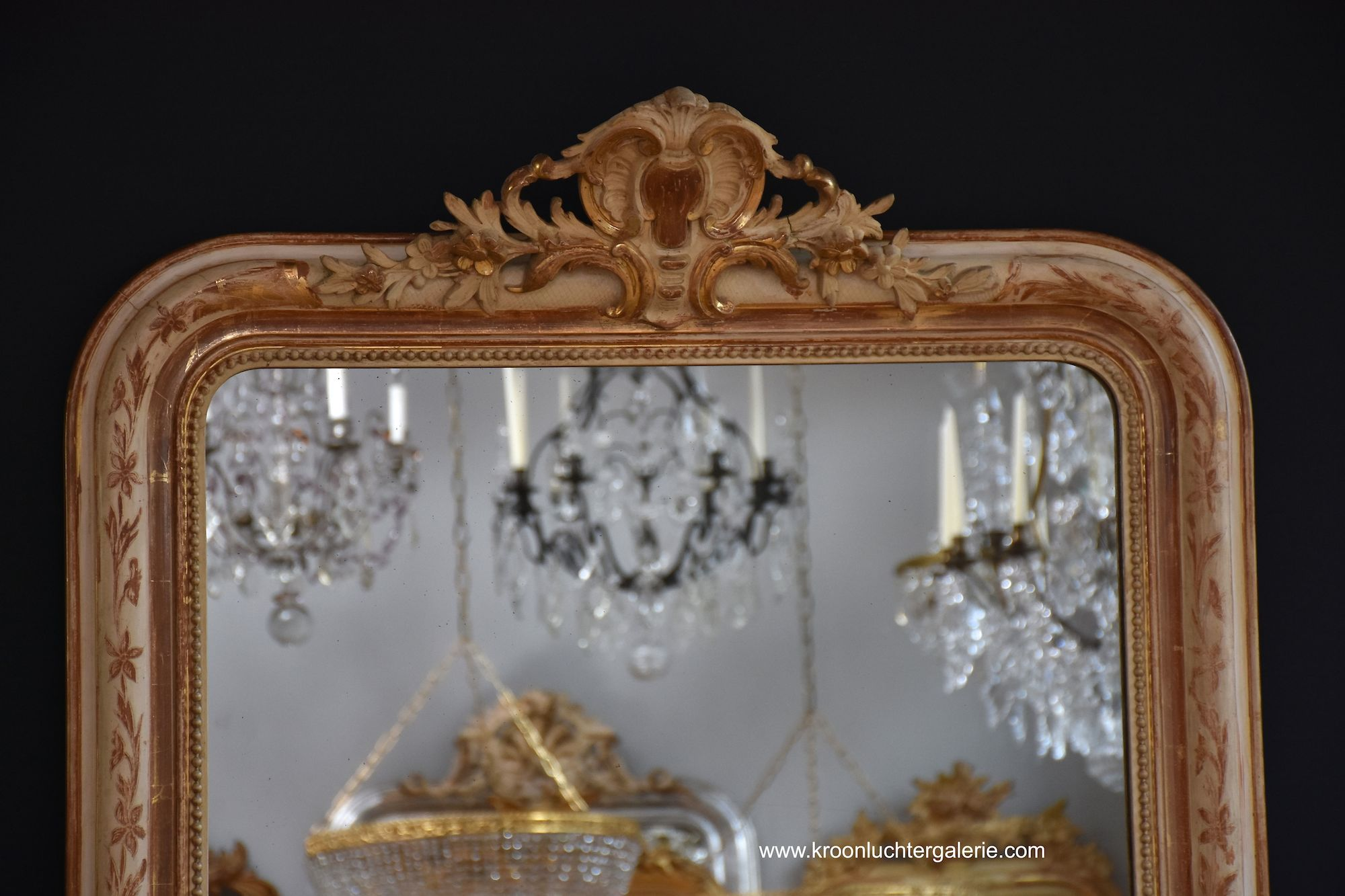 19th century French mirror with a crown