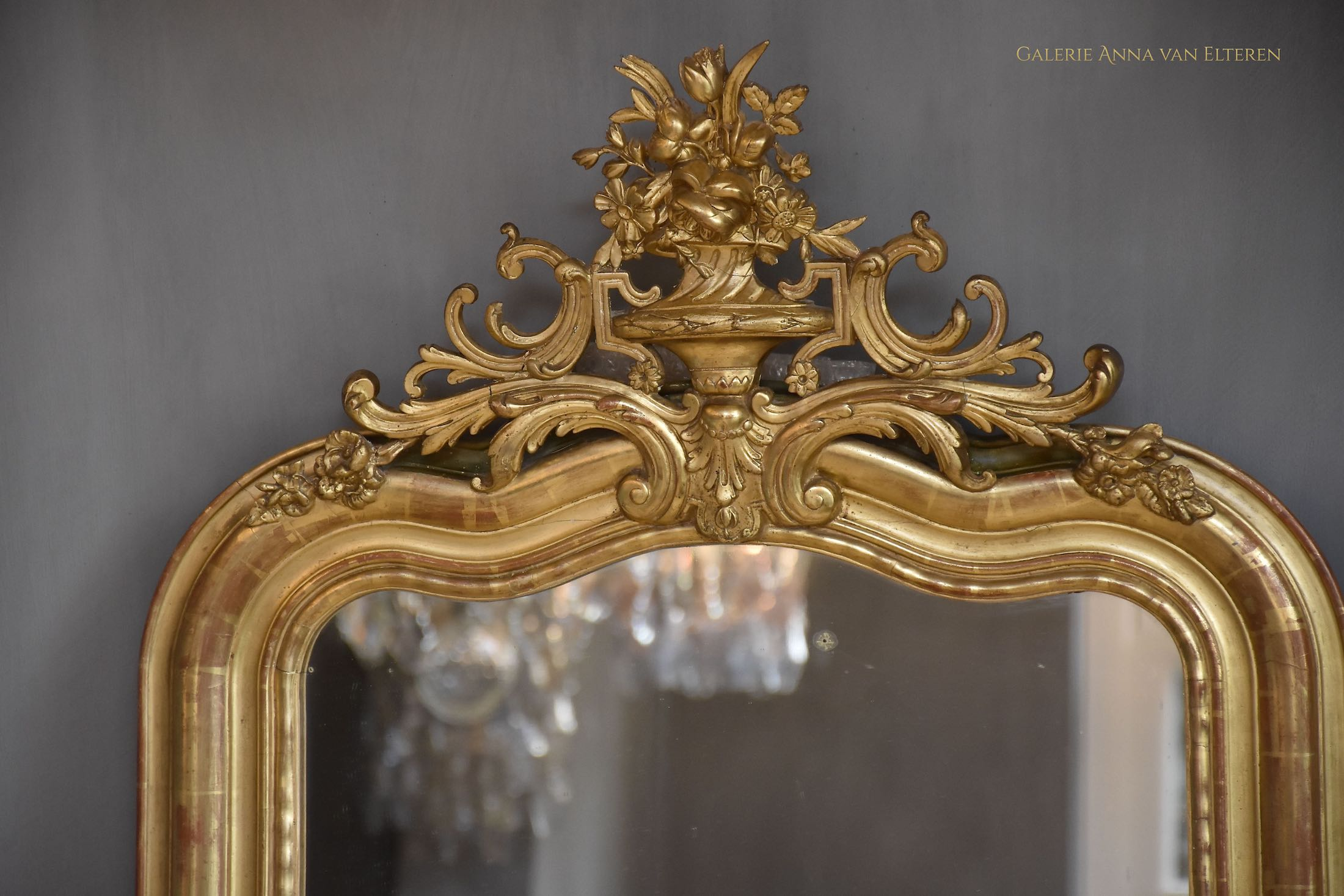 19th c. French mirror in the style of Louis XVI