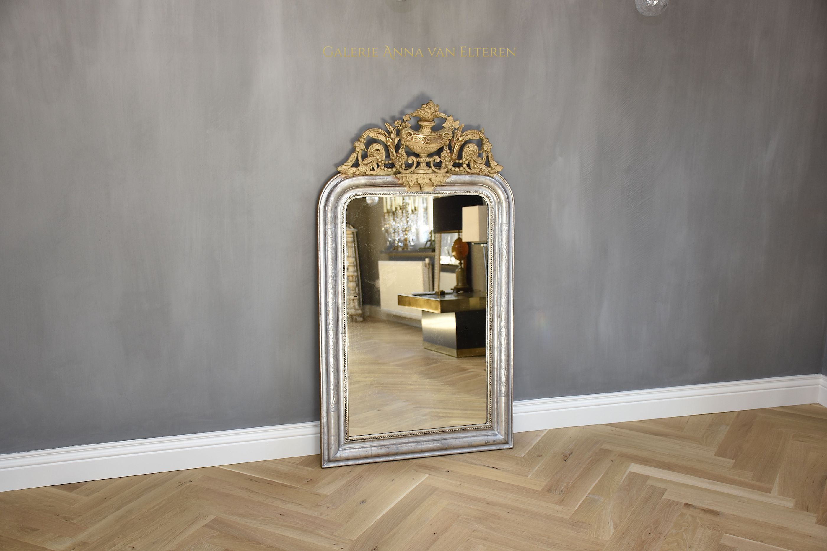 19th c. French mirror in Louis XVI style