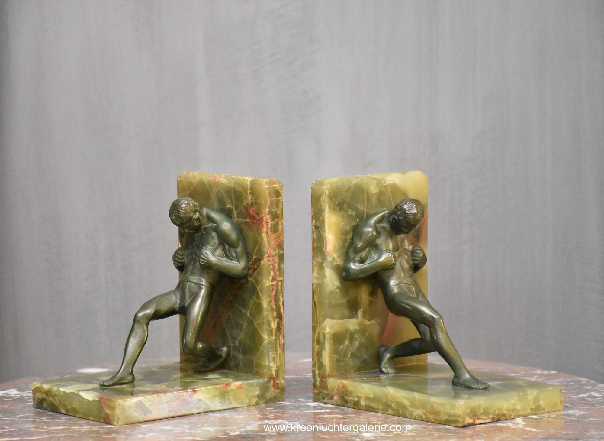 A pair of Art Deco Bookends