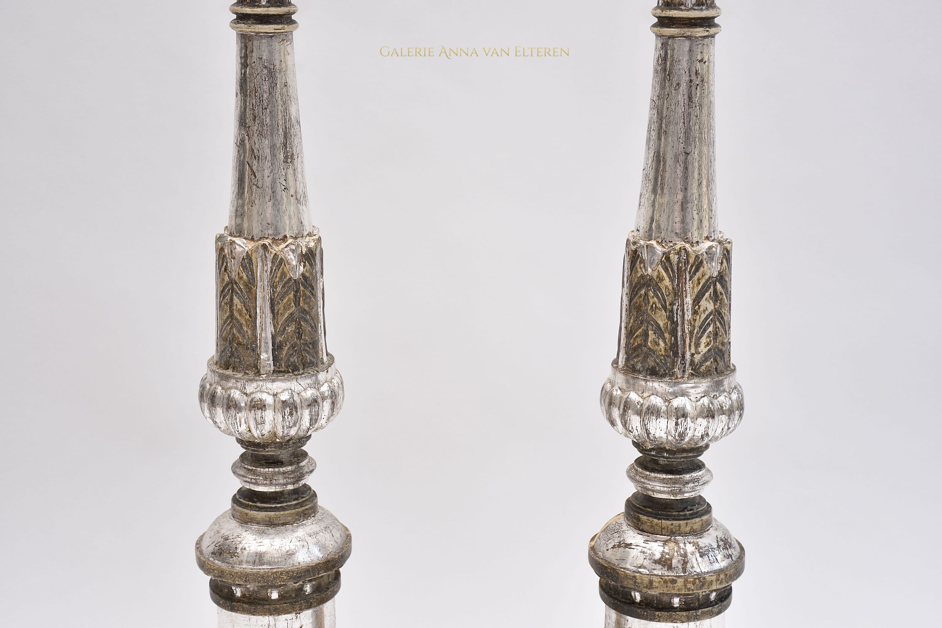 A pair of large 19th c. Italian torcheres