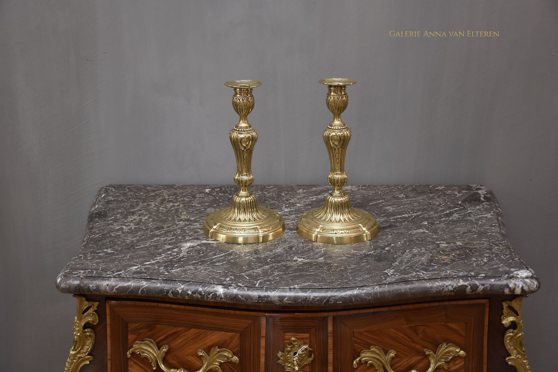 A pair of 18th c. French candlesticks Louis XVI