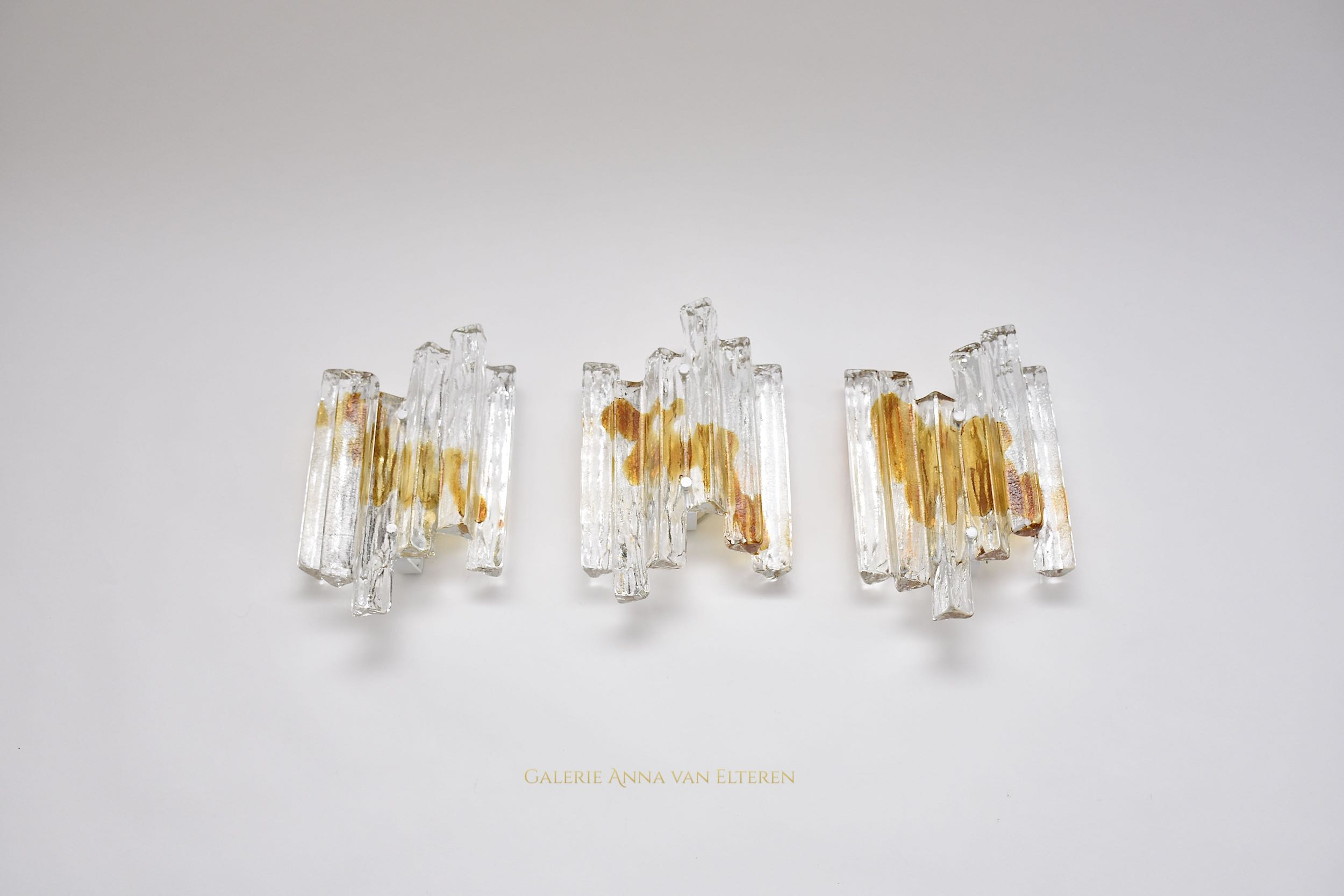 Set of 3 Murano wall lights by Salviati