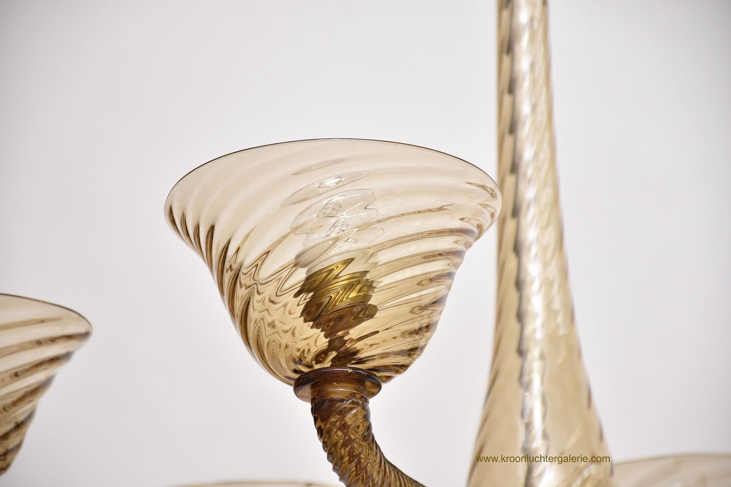 A rare Venetian oval shaped Murano chandelier