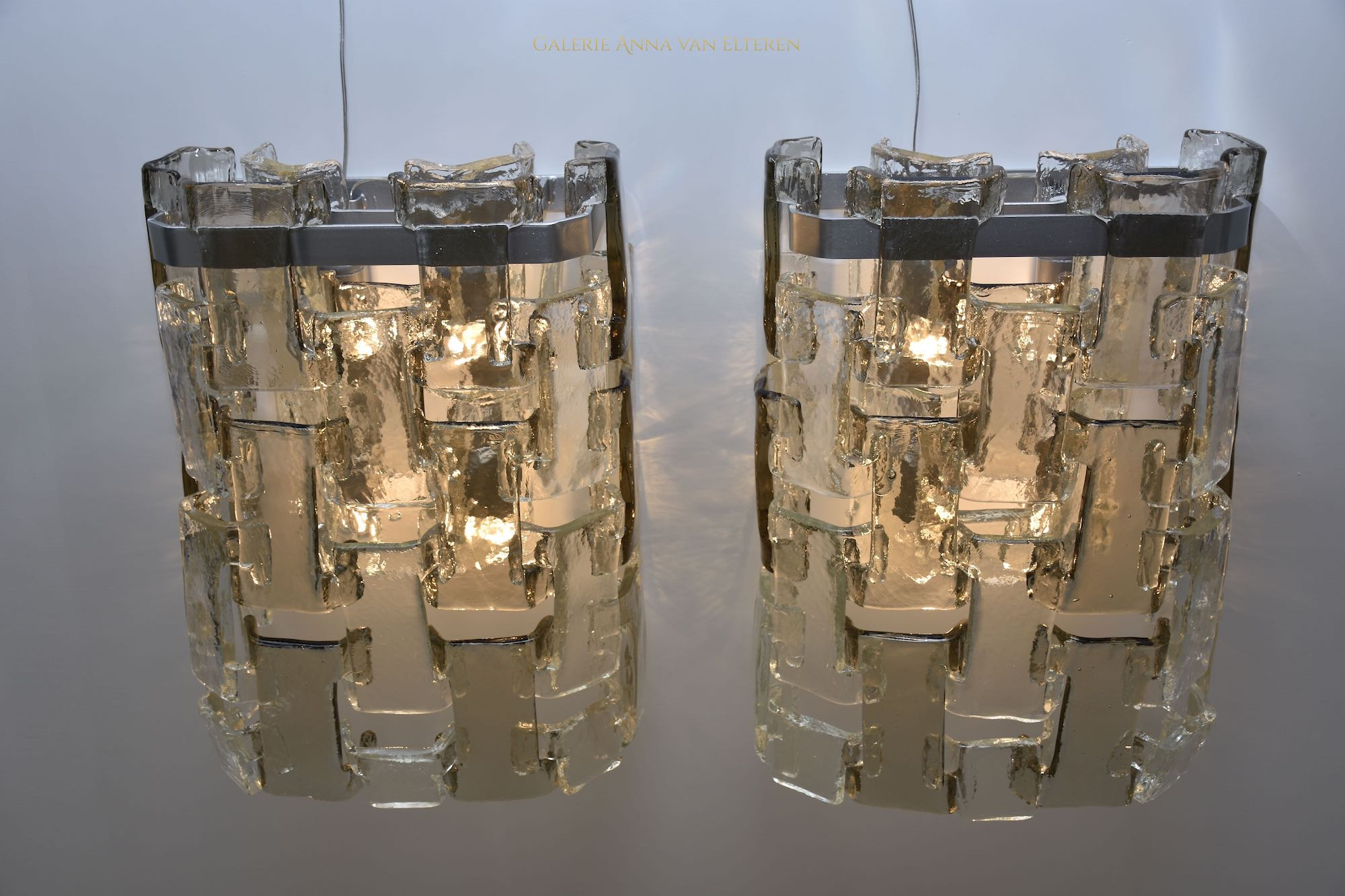 Exceptional large and rare wall lights by Salviati
