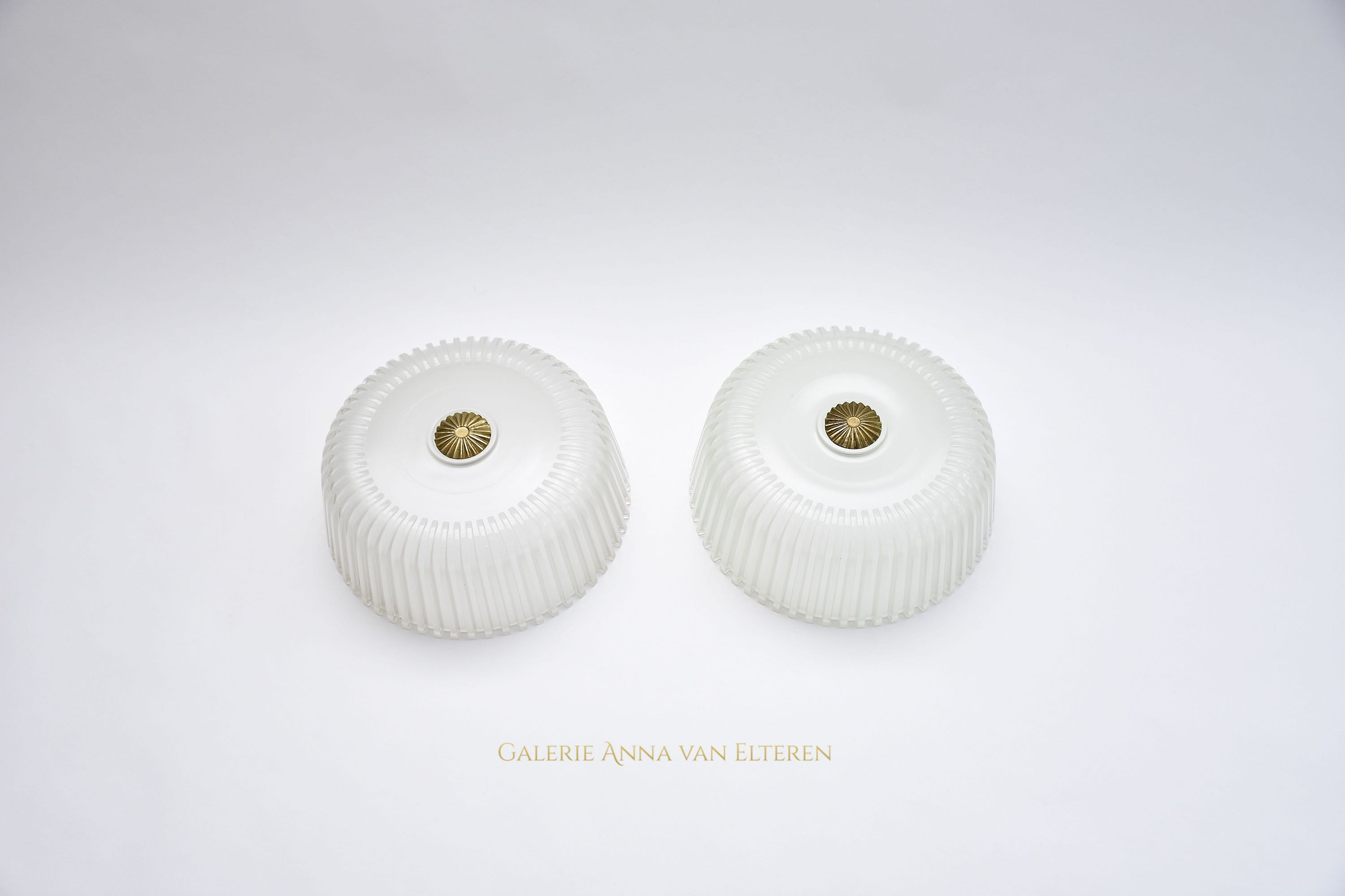 A pair of 2 ceiling fixtures by Vistosi- 2x pair available