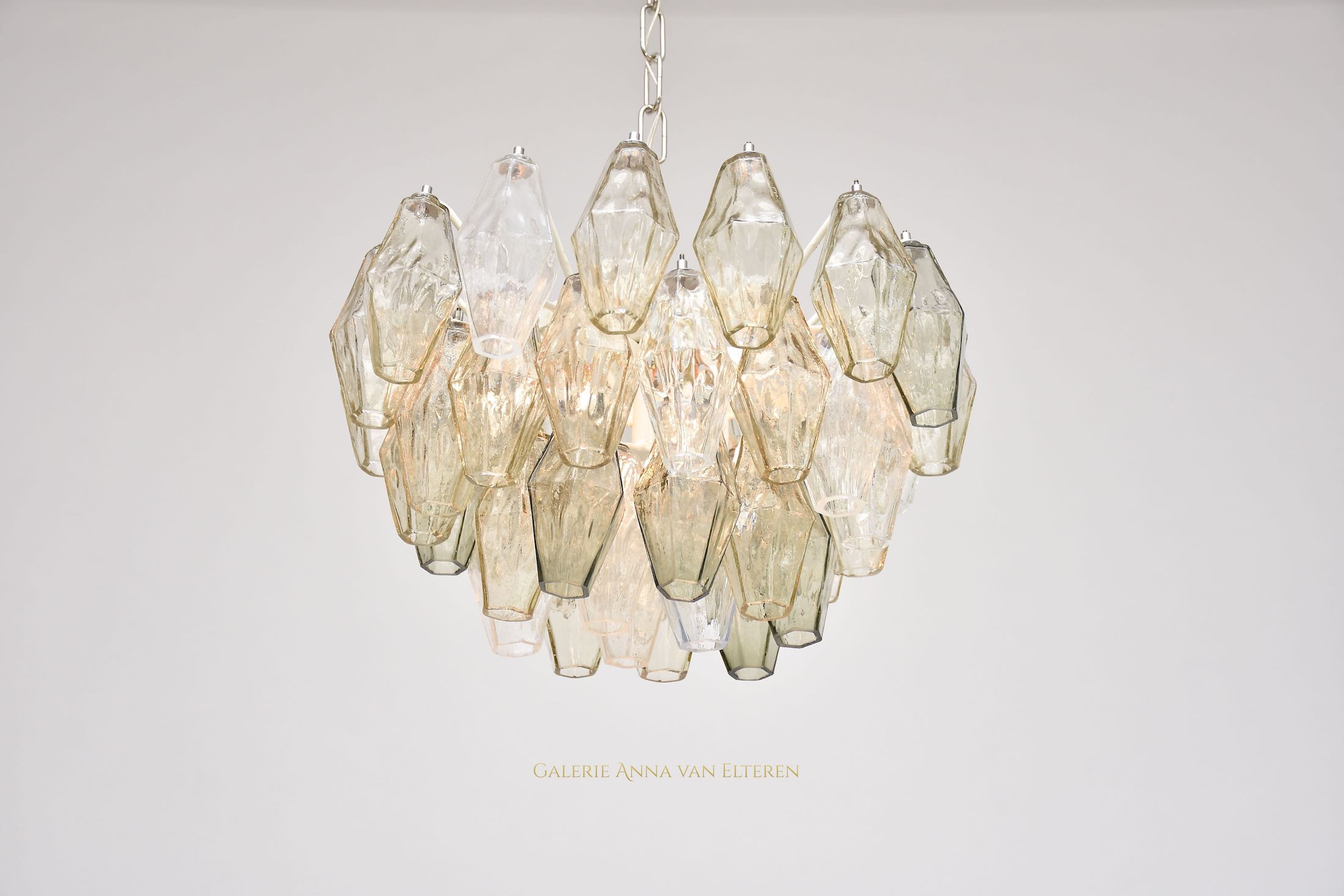 Murano ceiling lamp Poliedri by Carlo Scarpa for Venini