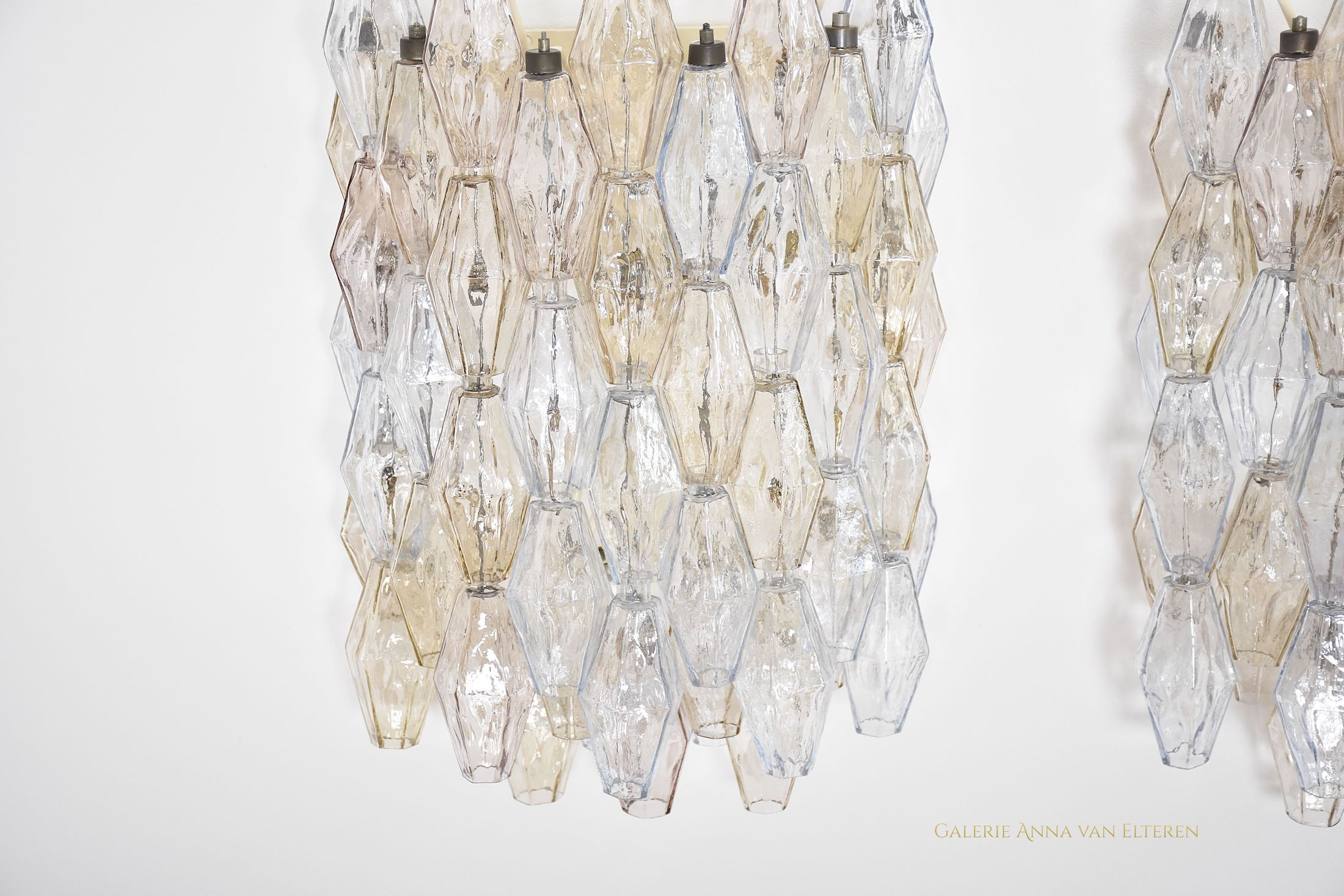 A large pair of wall lights by Venini Murano