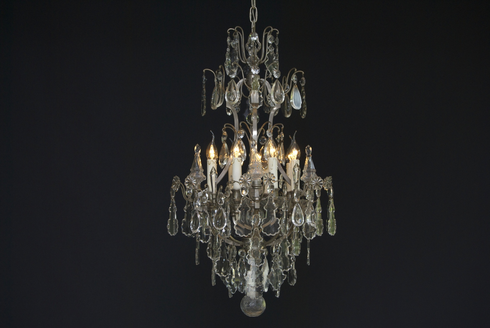 French silvered chandelier with 8 Light