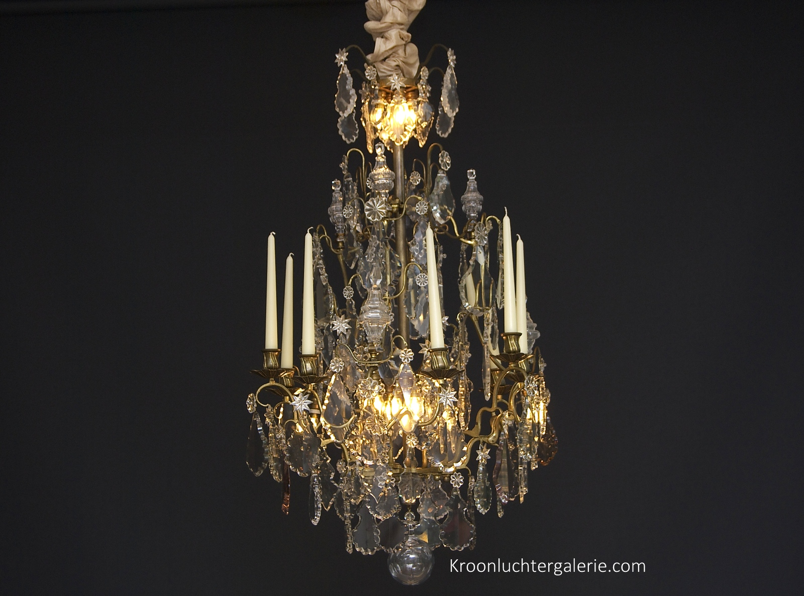 Large chandelier with candles