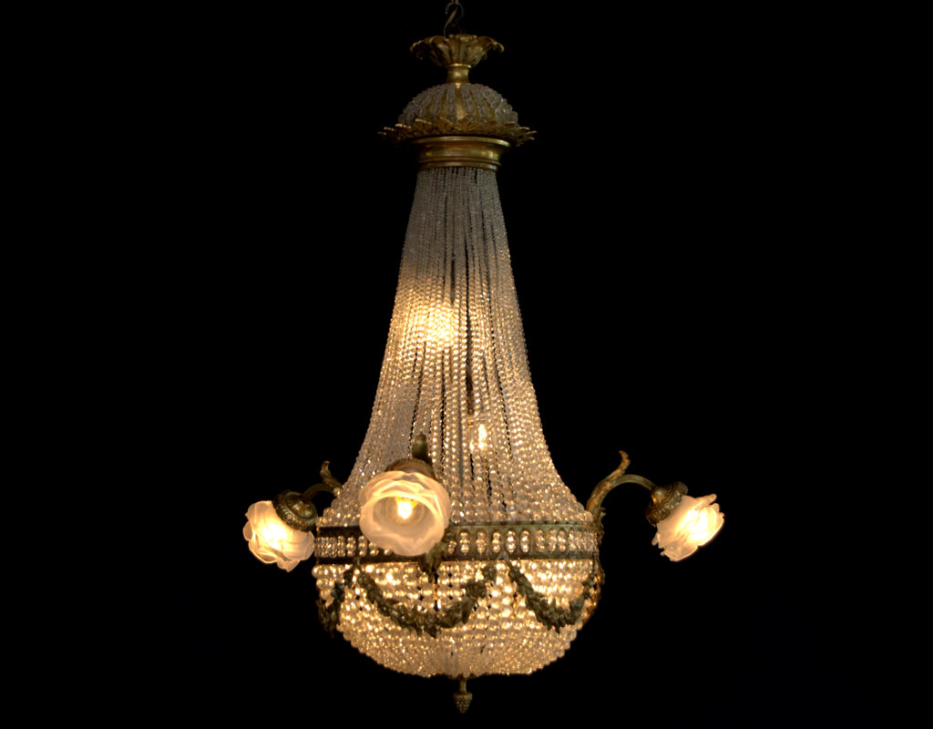 French Basket Chandelier with 7 Light
