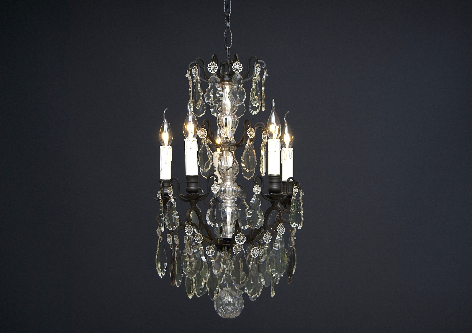 French chandelier with 5 Light, 19th century