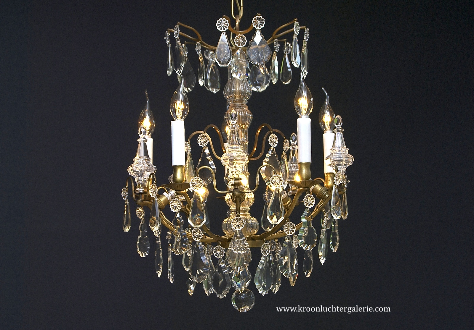 French crystal chandelier with 10 light