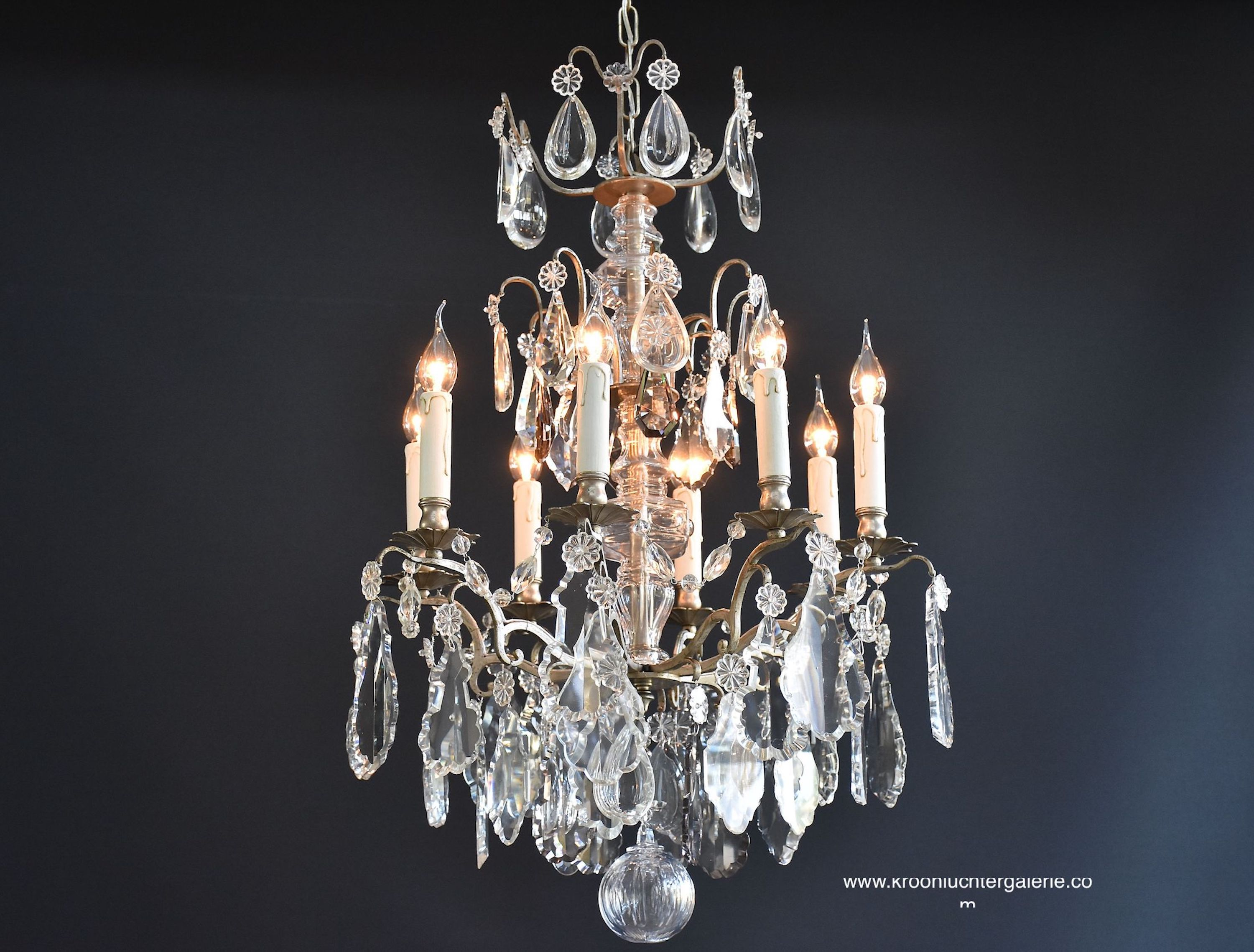 French crystal chandelier with 8 light
