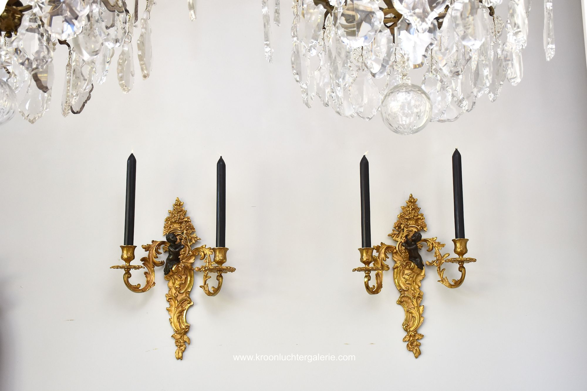 A pair of 19th century French wall lights