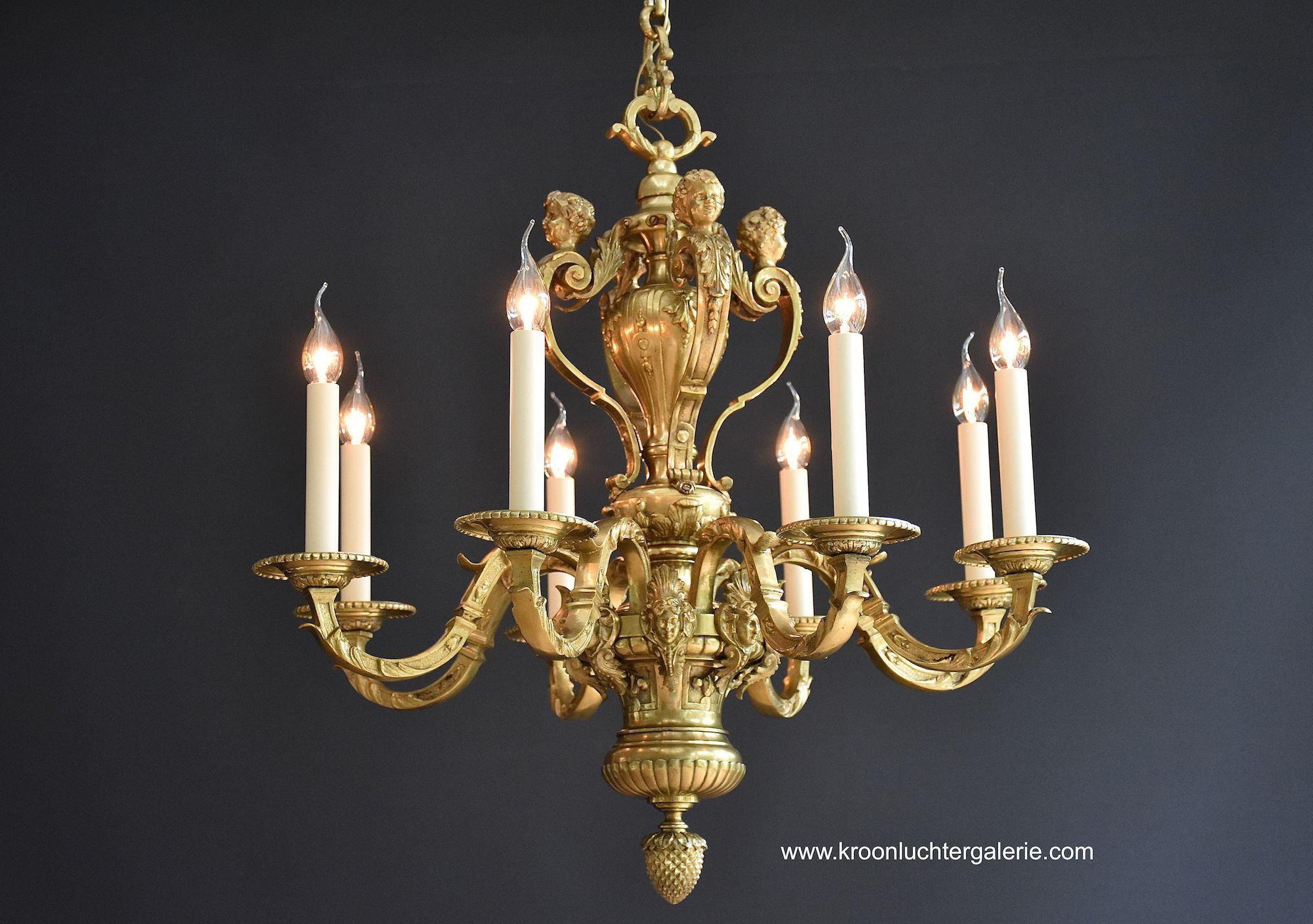 Antique French 'Mazarin' chandelier, Louis XVI style