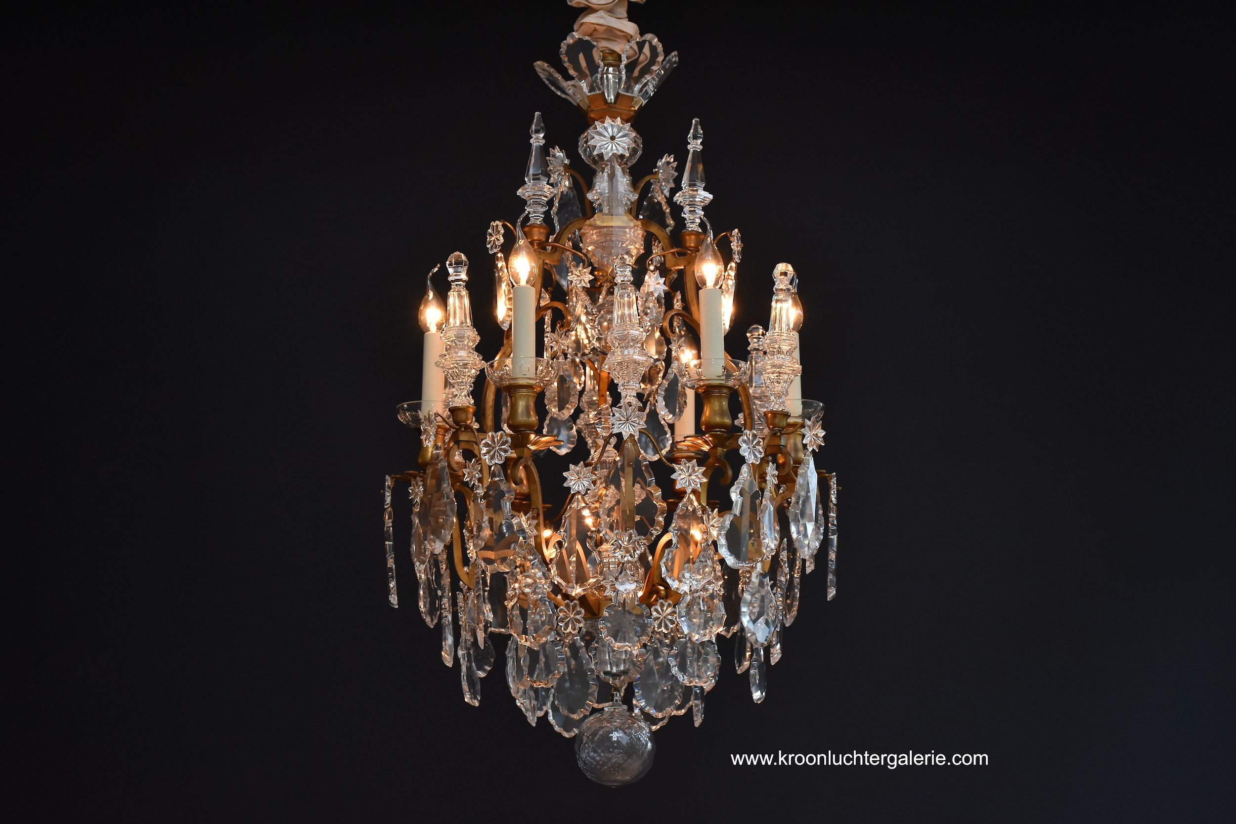 Baccarat chandelier 'lustre cage' with 9 light