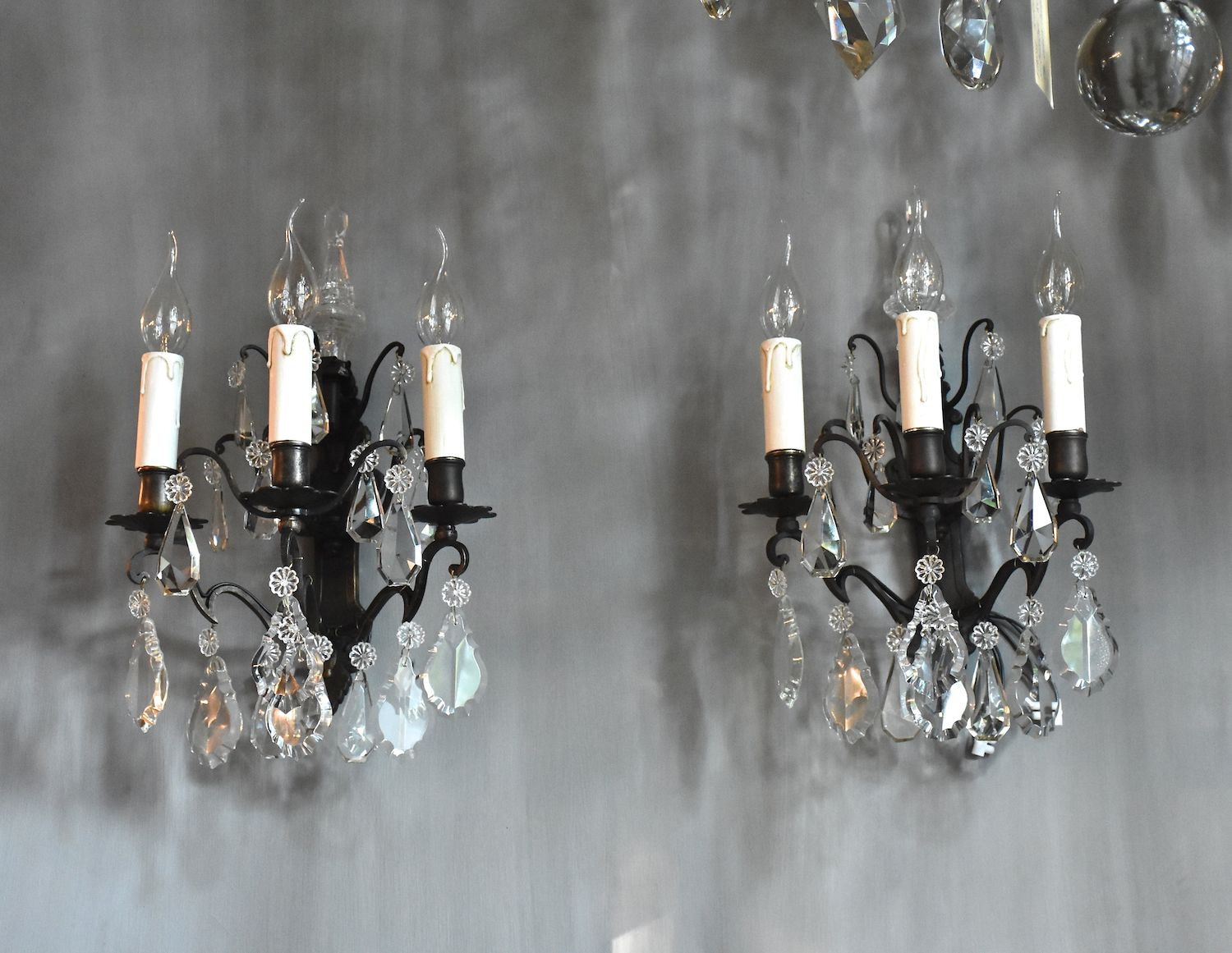 A pair of French wall lights