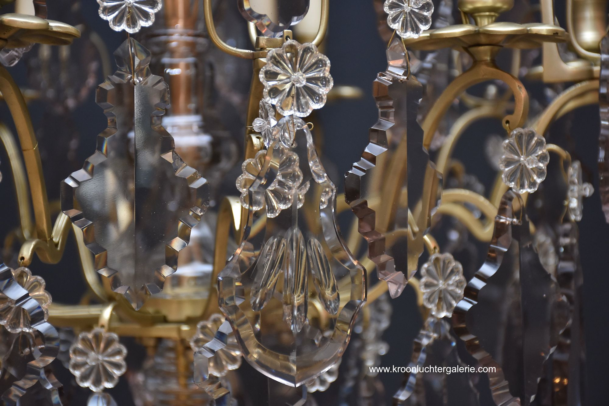 French chandelier with candles in the style of Louis XV