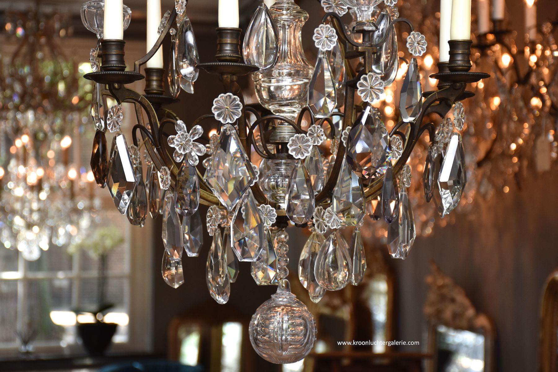French chandelier in the style of Louis XV 'lustre cage'