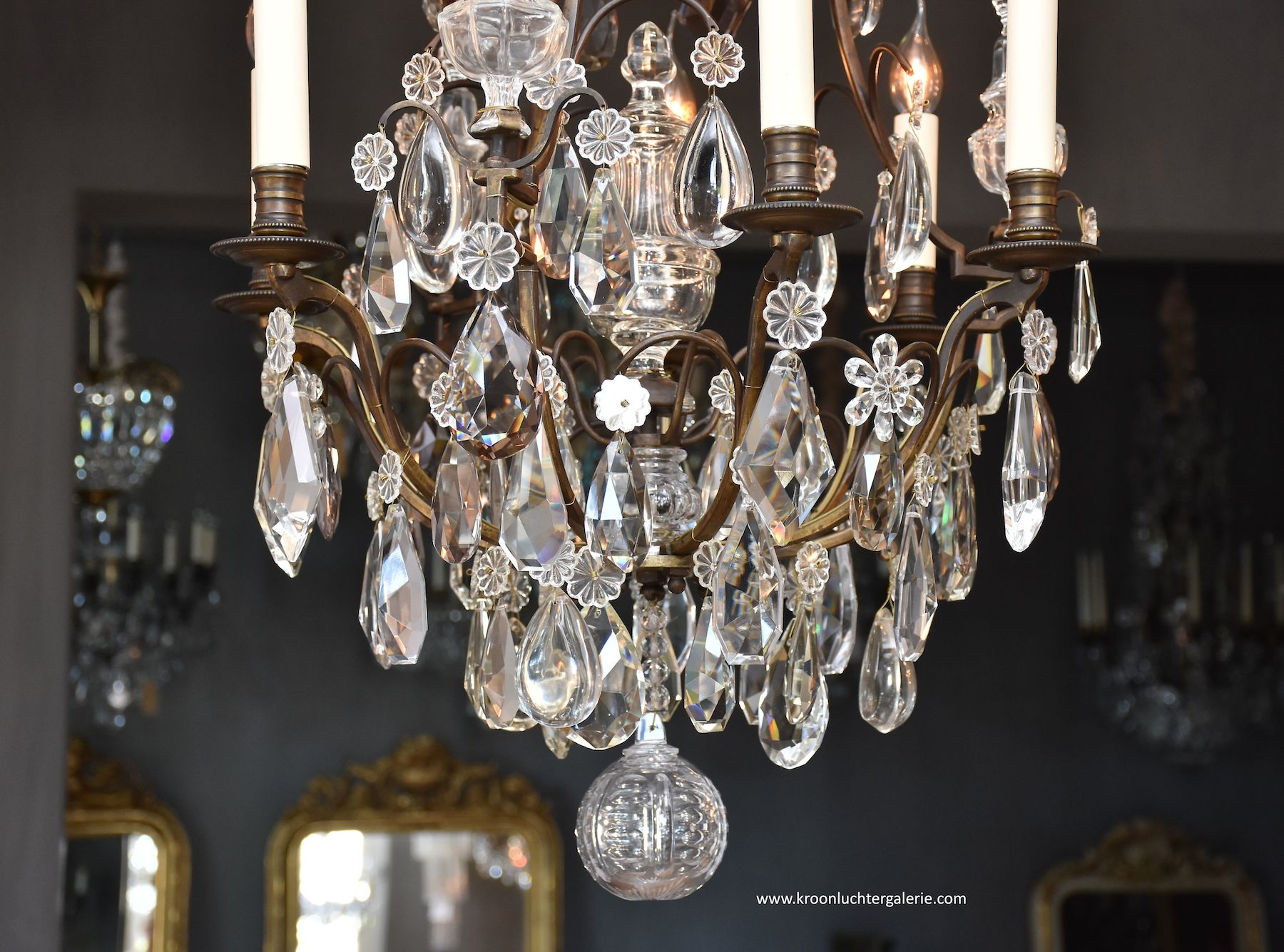 19th c. French chandelier in the style of Louis XV