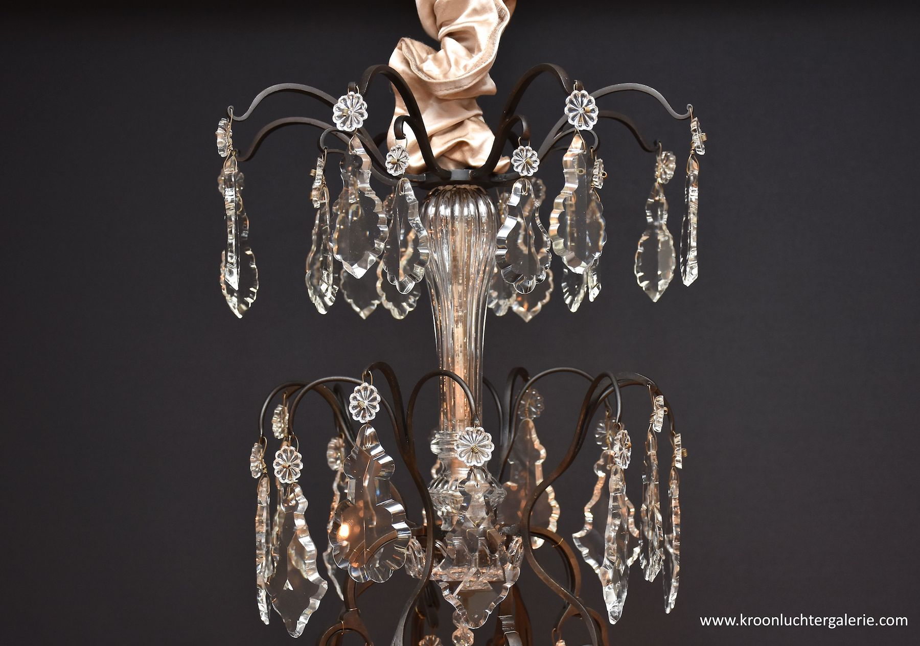 Antique French chandelier 'lustre cage'