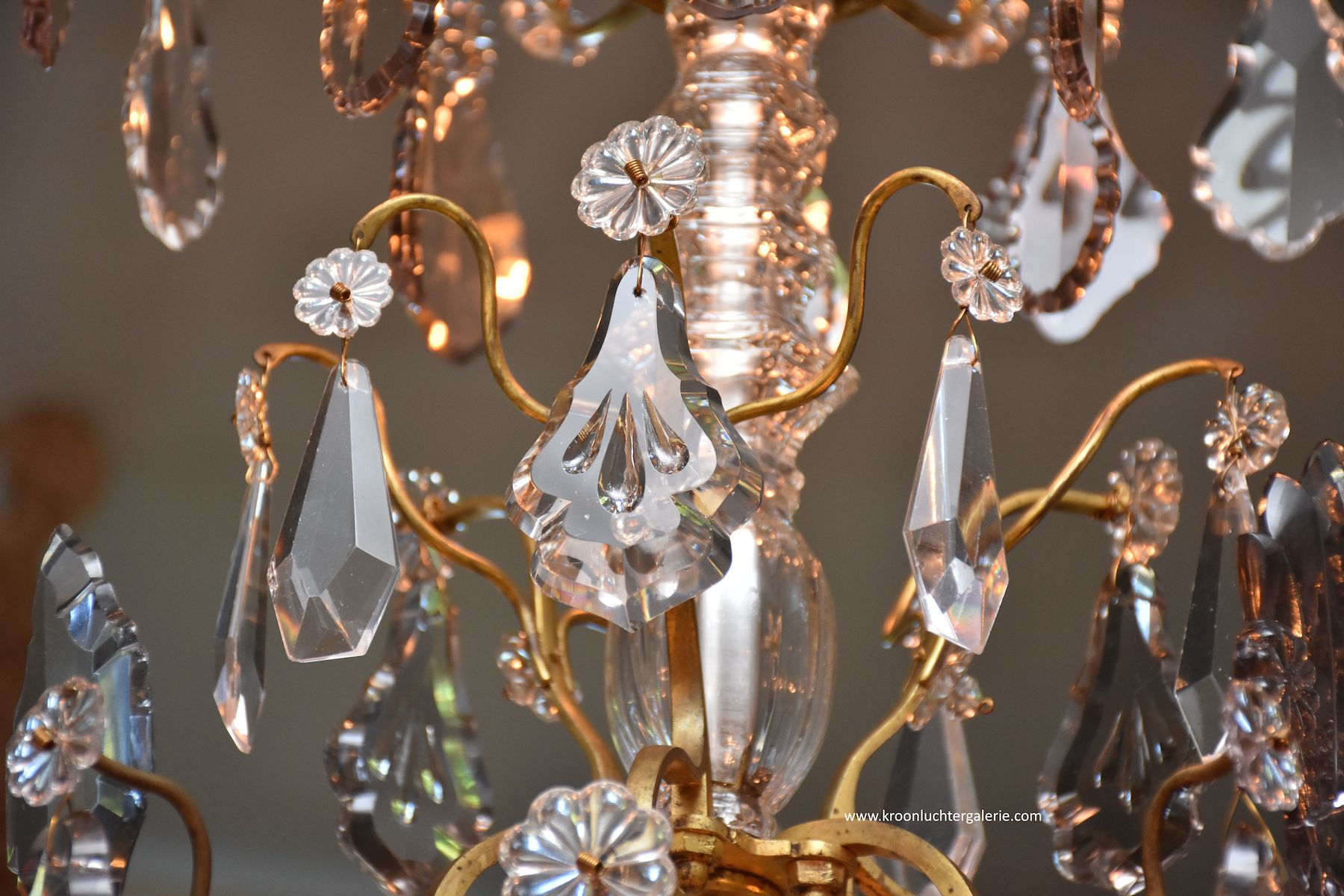 Large French chandelier in the style of Louis XV 'lustre cage'