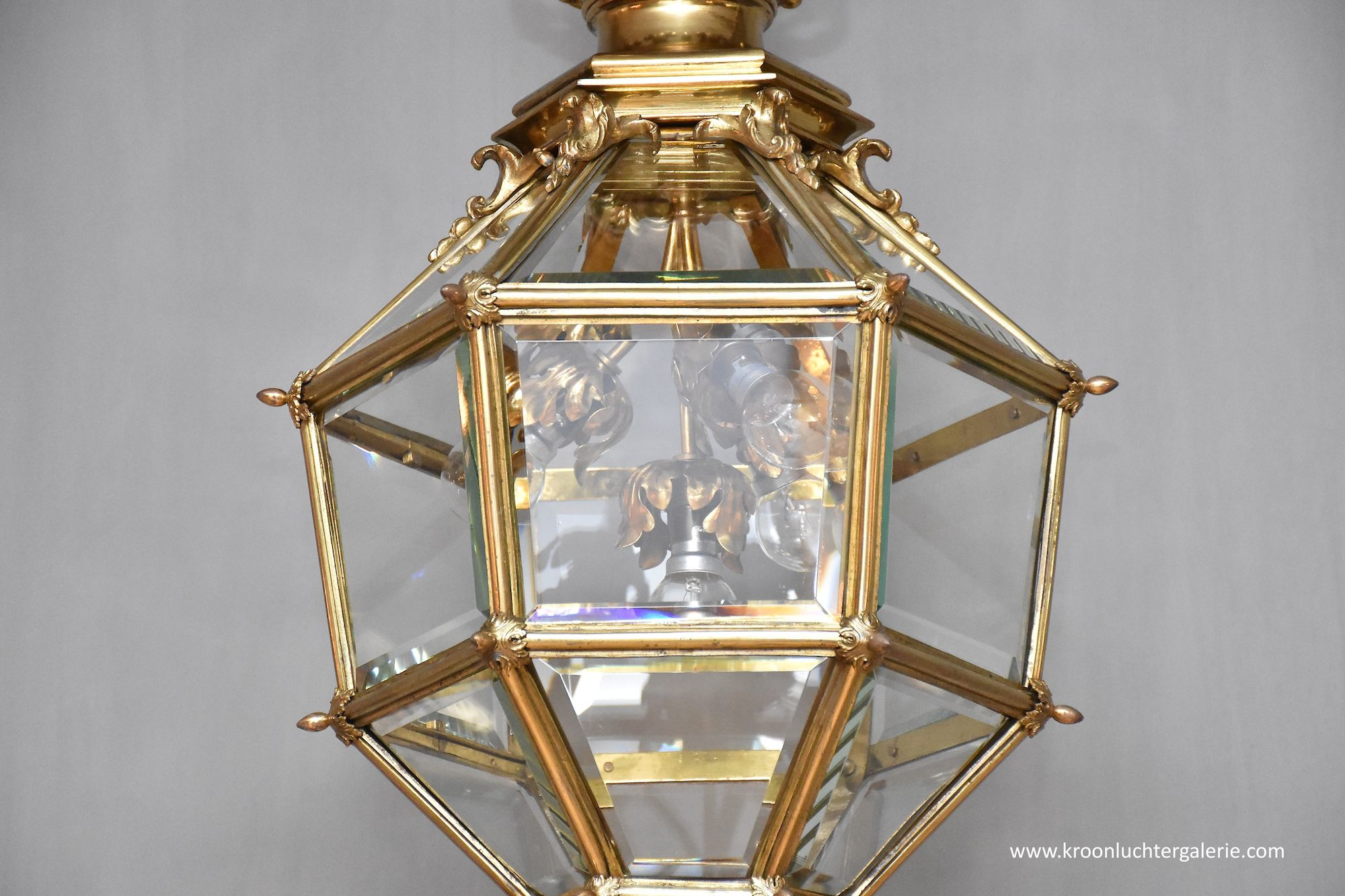 Gilt bronze French 'Versailles' lantern