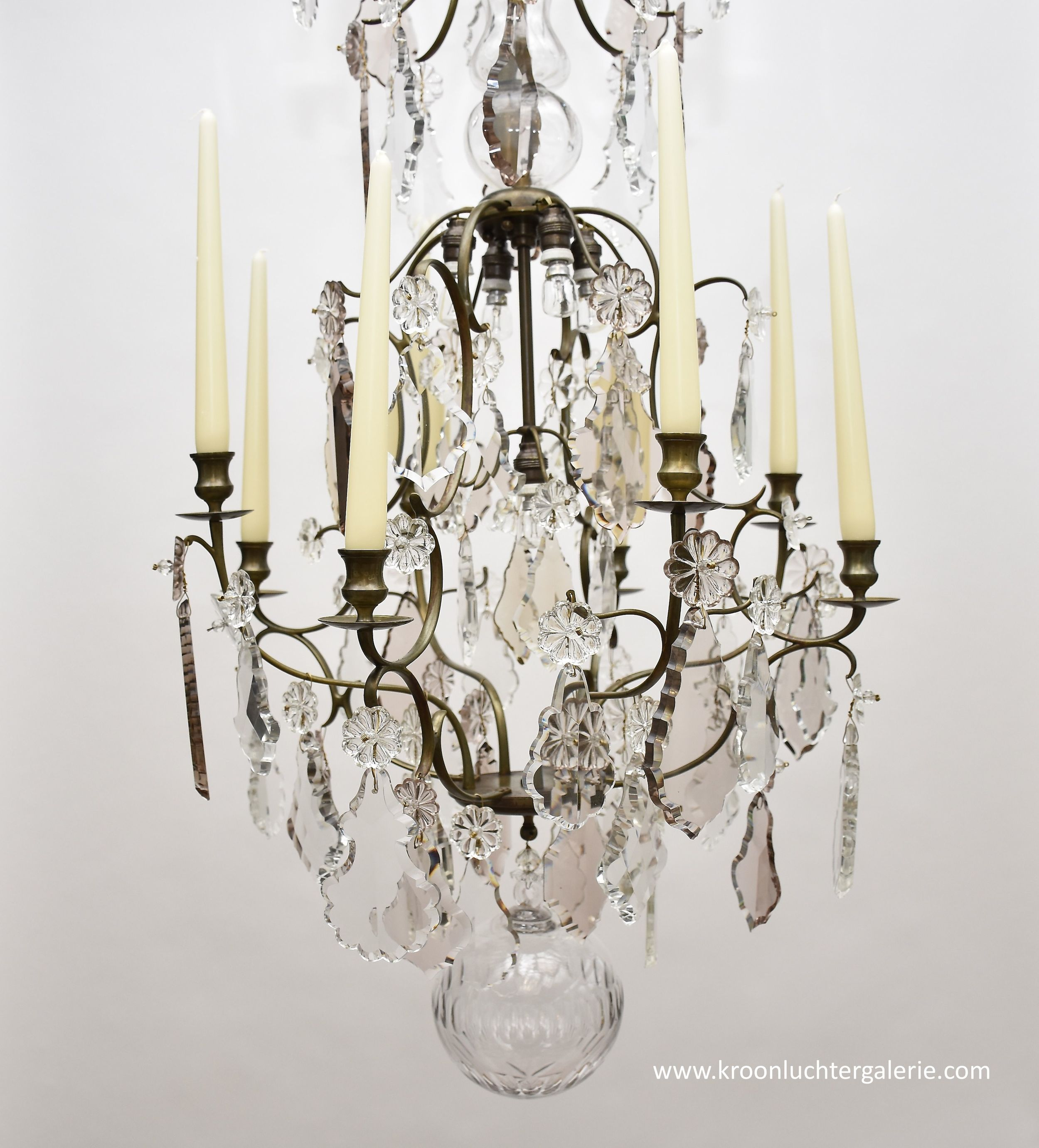 A pair of North-European Rococo chandeliers