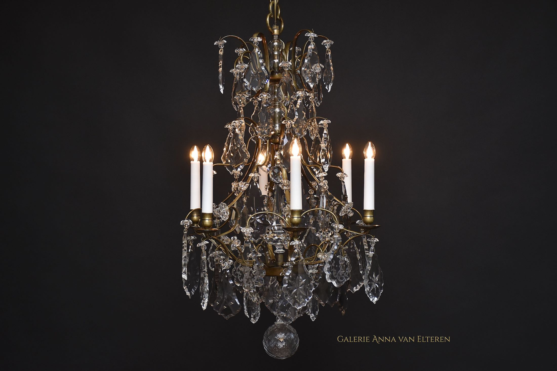 North European antique chandelier, Rococo style