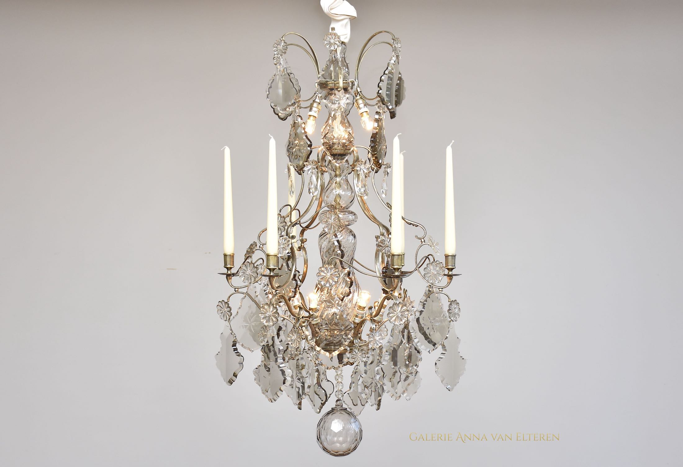 19th c. Rococo style crystal chandelier