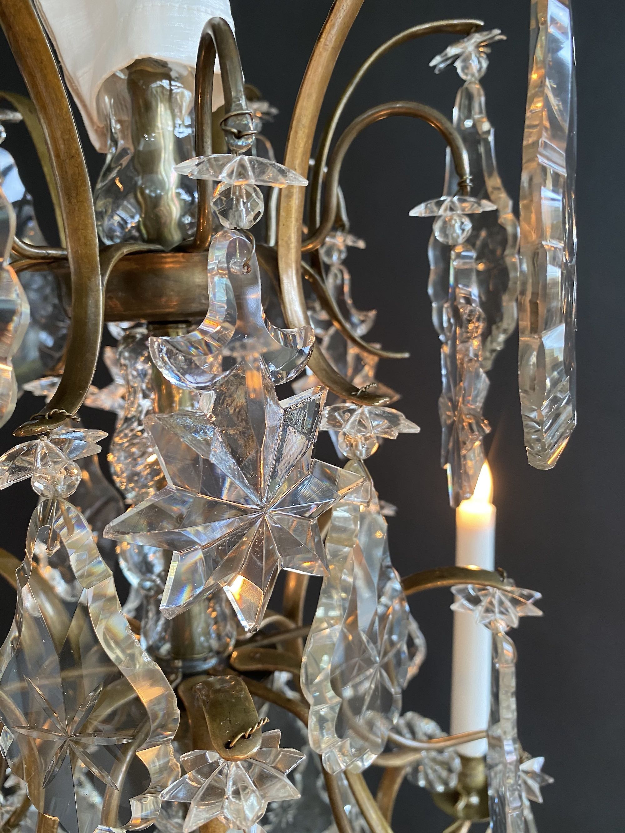 Rococo style antique chandelier with 6 light