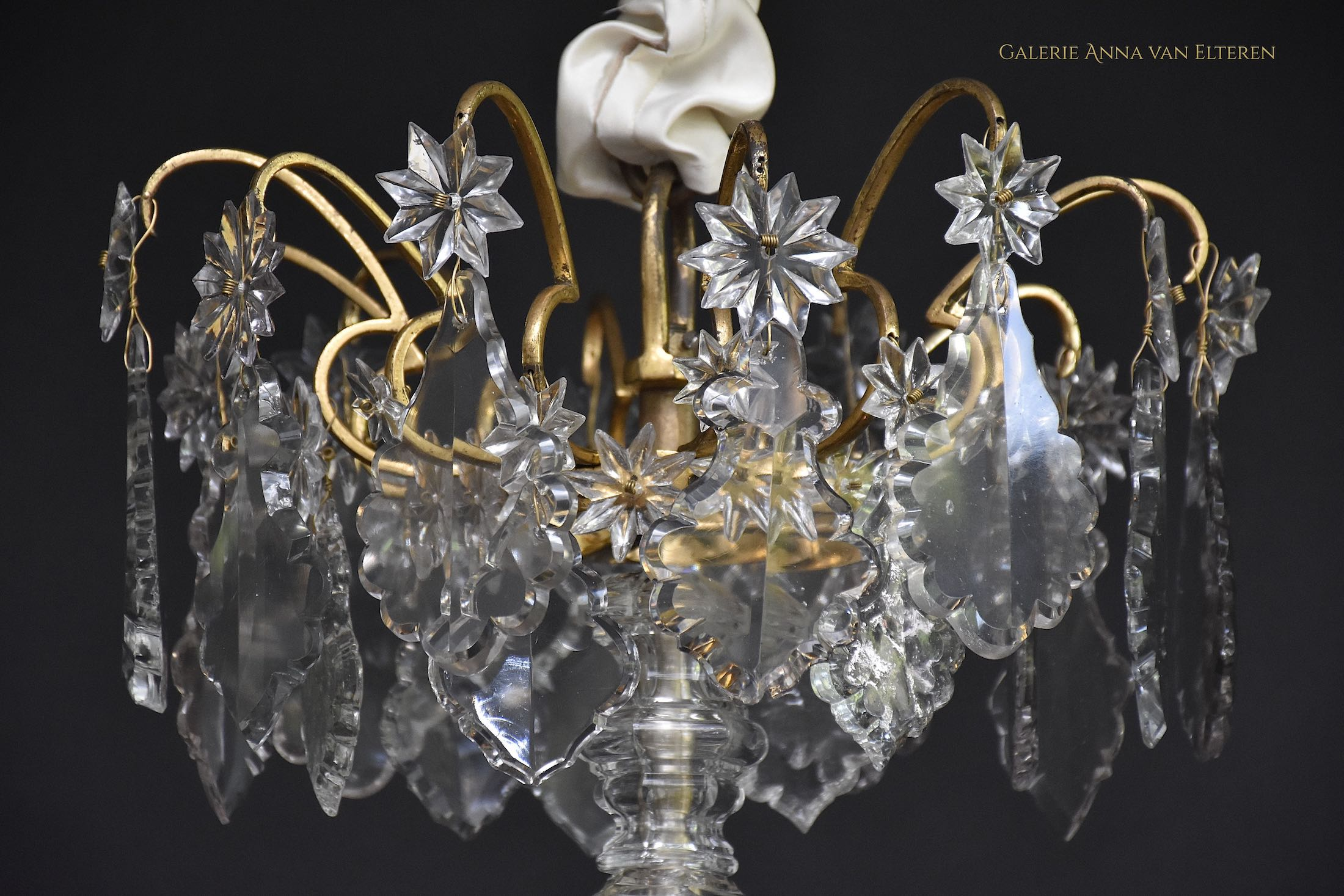 18th c. gilt bronze French chandelier 'Lustre cage'
