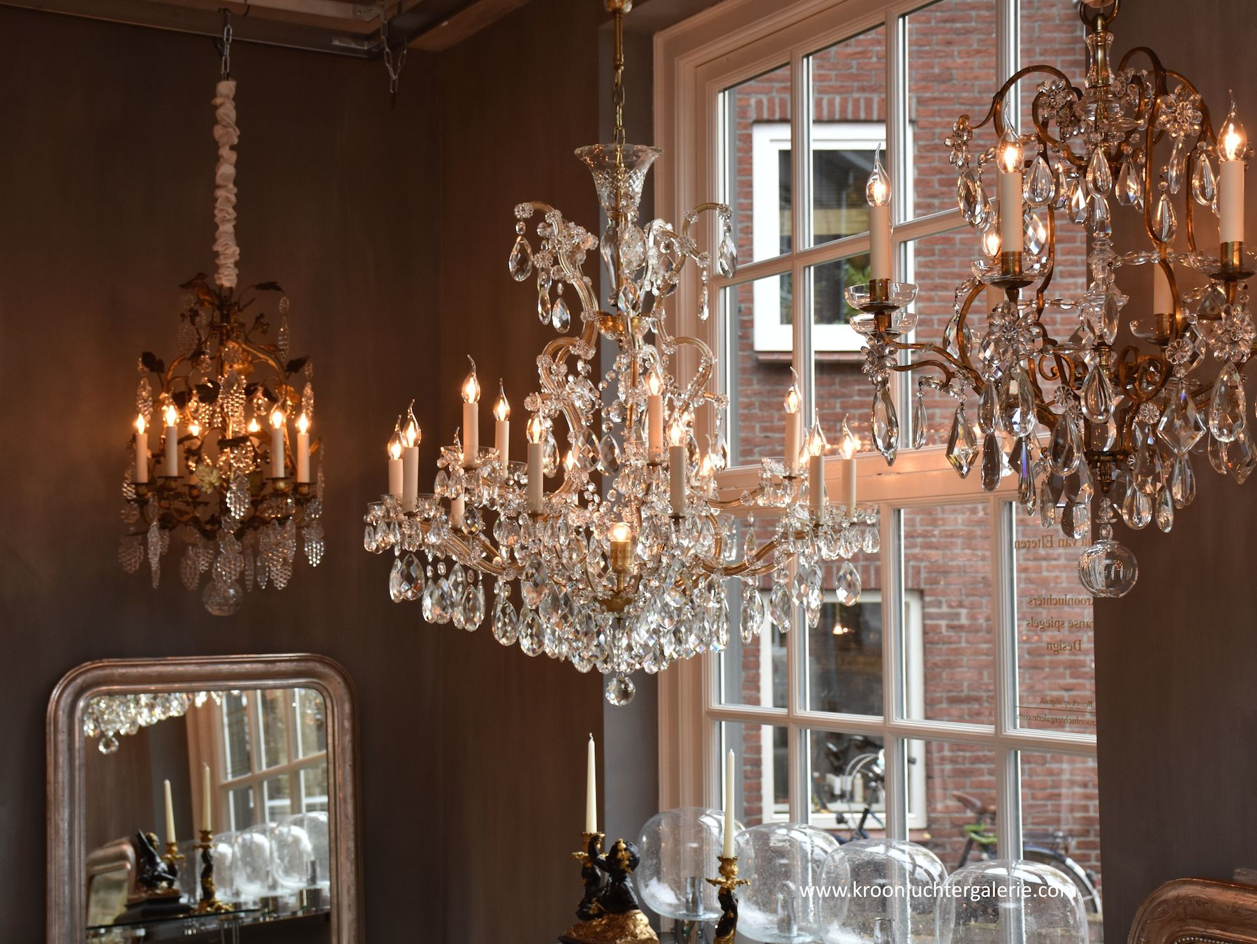Large Bohemian chandelier with 16 light
