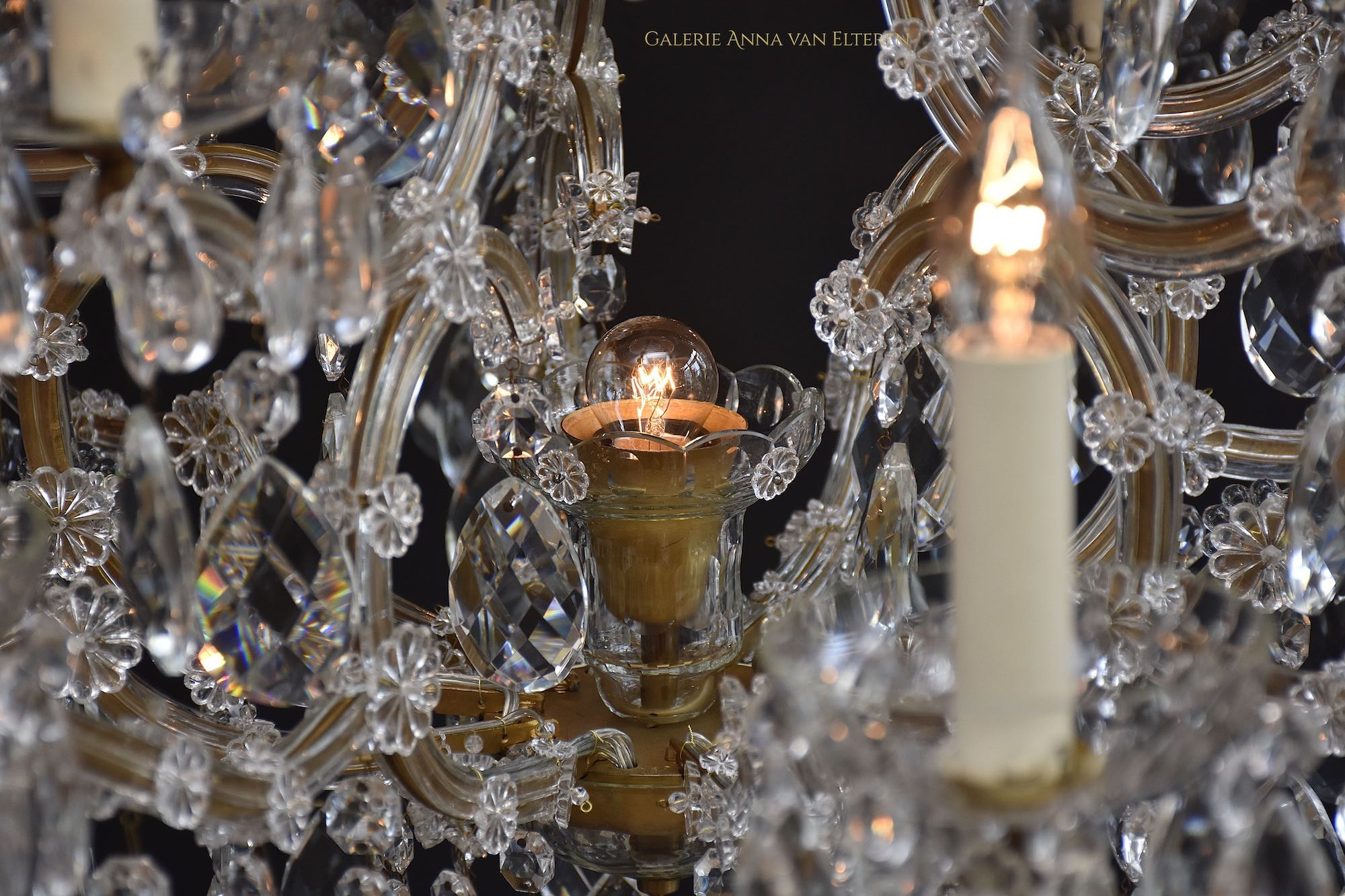 Large Bohemian chandelier 'Maria Theresia'