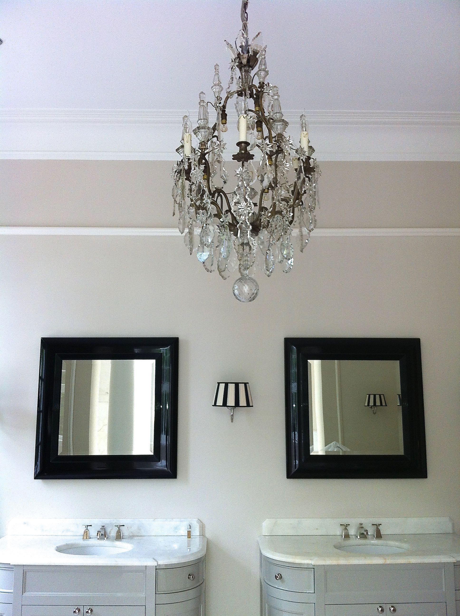 French chandelier in the bathroom