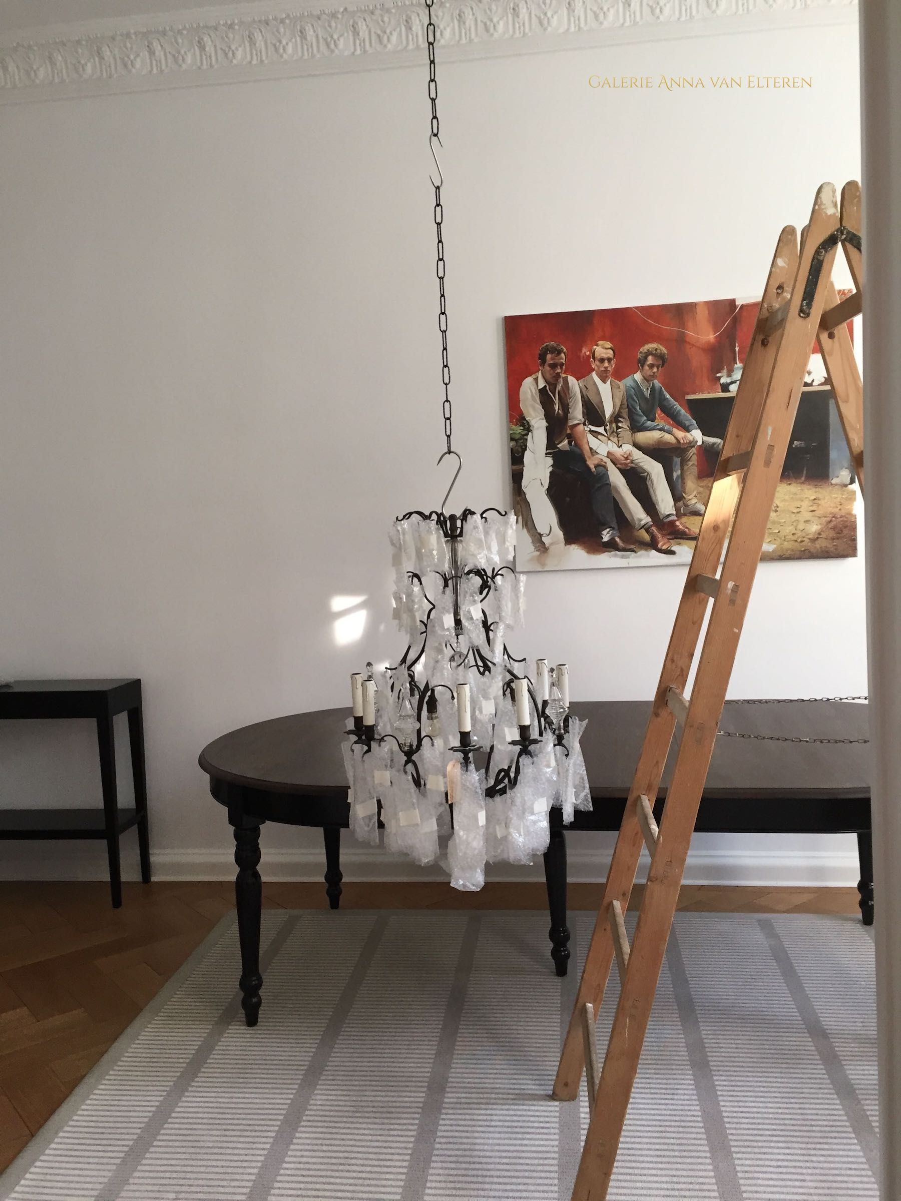 French chandelier with a dark patina